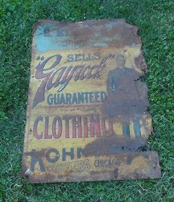 RARE turn of the century metal C. Kinne & Co. Store sign, Highland IL