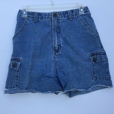 Womens Summer Casual Blemished Shorts Route 66 Size 7 and/or 8 Blue Cargo Pocket