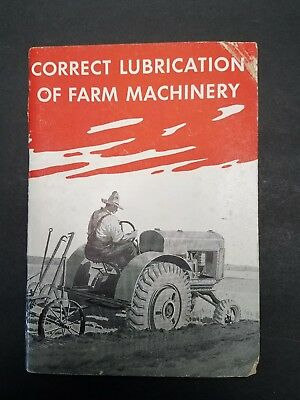 1936 Booklet - Correct Lubrication Of Farm Machinery Standard Oil of New York