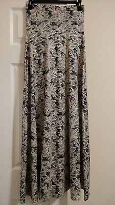 Lularoe Maxi XXS - Gorgeous Black and White Lace Design NWOT