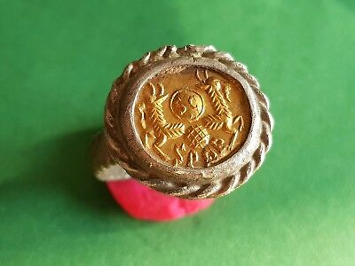 Roman Silver and Gold Ring  II - III century AD - internal size: 22 mm