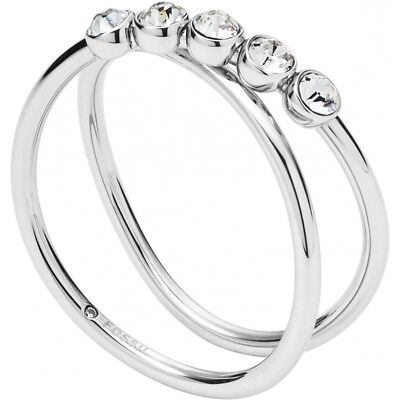 Ring Fossil Women's JF02740040 steel with crystals