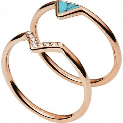 Ring Fossil Women's JF02645791 steel Rose Gold
