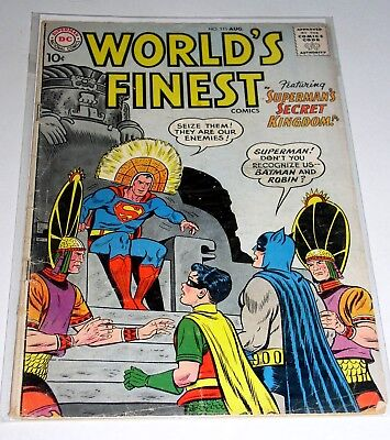 World's Finest Comics #111  Silver Age Dc 1960  10 Cent Cover