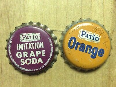 2 Different   Patio  Soda  Bottle Cap -   Cork Lined - Used