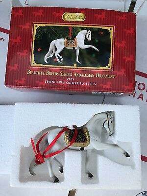 BREYER 2009 BEAUTIFUL Horse BREEDS ANDALUSIAN CHRISTMAS ORNAMENT