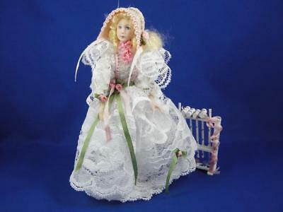 1:12 Scale Dollhouse Miniature Victorian Lady Playing Croquet by Liz Staryk