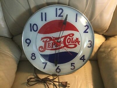 Repo Pepsi Bubble Glass Clock