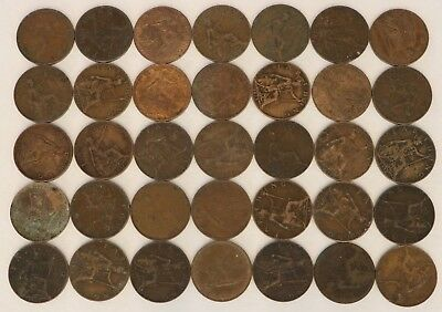 Farthing Great Britain 1911-1936 Coin Lot Of 35 George V Combined Shipping D8
