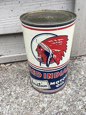 Vintage Res Indian Aviation rare imperial quart oil can Empty Metal NO RESERVE!!