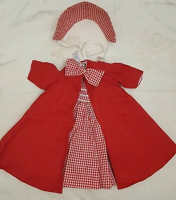Vintage Madame Alexander Cissy Doll-Dress and Coat-Red & White-6pc Set-1950's