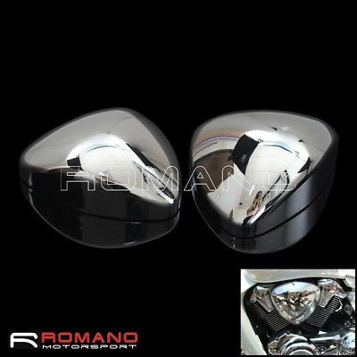 2X Chrome Intake Air Cleaning Filter Cover For Suzuki Boulevard M109R VZR1800
