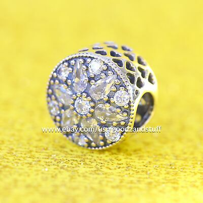 Radiant Bloom Crystal Authentic Pandora Sterling Silver 791762CZ
