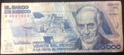 Mexico 20000 Pesos 28 March 1989 Short Term Issue Hard To Find