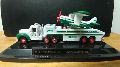 """Hess Truck and Airplane on stand 6"""""""