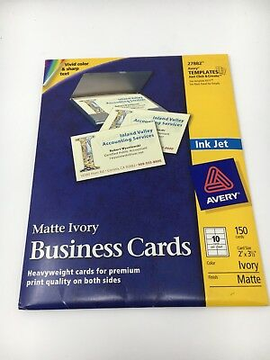 Avery Business Cards for Inkjet Printers, Matte, Ivory, Pack of 150 (27882)