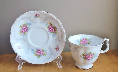 Royal Albert English Bone China Tranquillity Pink Rose Tea Cup & Saucer Set