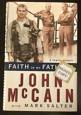 AUTOGRAPHED HAND SIGNED CARD John McCain Faith If My Fathers with COA FREE SHIP!