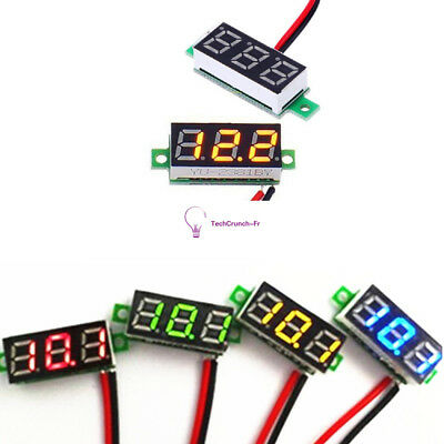 0.28 inch Blue/Green/Red LCD Mini Digital DC Voltmeter Gauge Voltage Detector