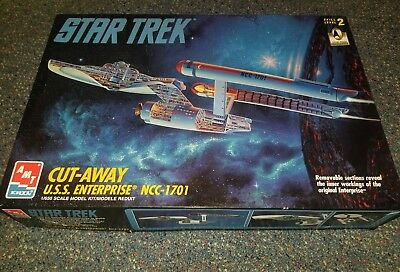 STAR TREK USS ENTERPRISE NCC-1701 Cut Away  Model kit ERTL  1991