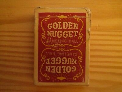 Vintage Golden Nugget Gambling Hall Playing Cards (RED DECK)