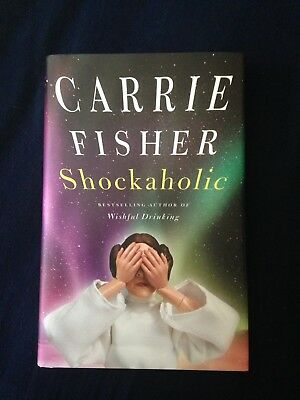 STAR WARS CARRIE FISHER SIGNED BOOK (Shockaholic) SIGNED BOOKPLATE RARE!!