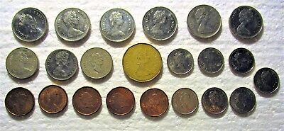 Small Cache Of 21 Canadian Coins