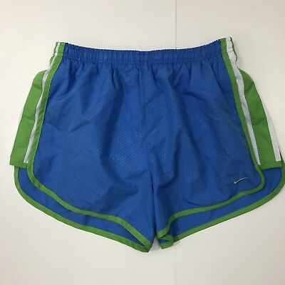 Nike Dri-Fit Womens Size S Small Athletic Running Shorts Lined Blue Green