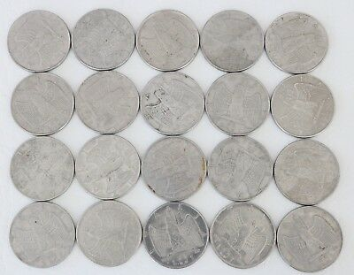 1 Lira Italy 1939-1942 Coin Lot Of 20 World Foreign Currency Combined Ship C99