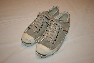 VTG Converse Jack Purcell Classic Shoes Size 7 Made In USA Suede Gray