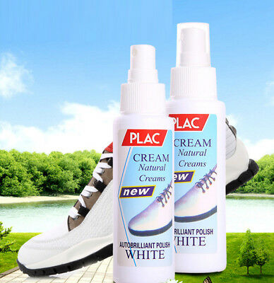 100ml Clear Magic Refreshed White Shoe Cleaner Cleaning Polish Tool Kit Hot AP