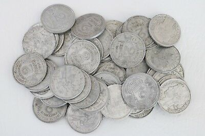2 Francs France 1941-1959 Coin Lot Of 50 Aluminum World Foreign Combine Ship C97
