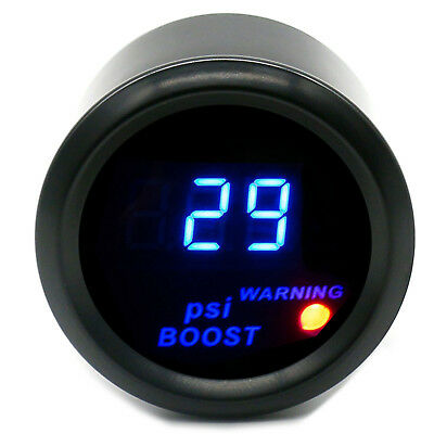 "2"" 52mm Car Universal Digital Blue LED -14-29 PSI Turbo Boost Gauge Meter"