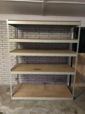 "Heavy Duty Shelf Steel Metal Storage 5 Level Adjustable Shelves  (5'9X7'X30"")"