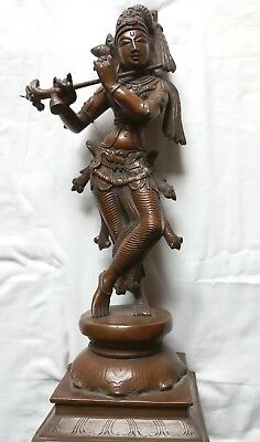 Stunning Lord Krishna Multi-Metaled Quality Statue Approx 12 Ins High
