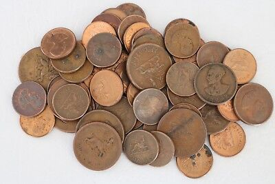 Ethiopia 1943-1944 Lot Of 54 Coins 1, 5, 10 Cents World Combined Shipping C83