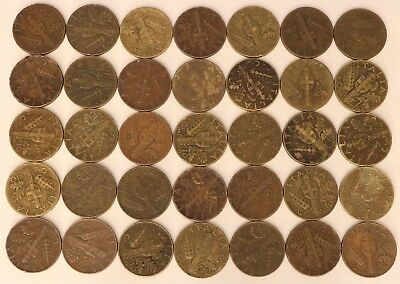 10 Centesimi Italy 1936-1943 Coin Lot Of 35 World Foreign Combined Shipping C78
