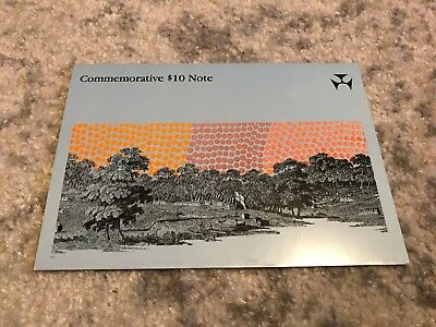 Awesome 1988  Australia - Commemorative 10 Dollar Polymer Note in Folder - UNC