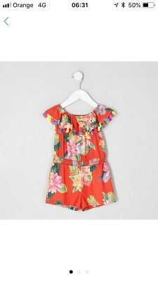baby girl river island 0 3 months Tassel Play Suit