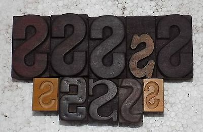 """S-10"" Letterpress Letter Wood Type Printers Block collection.#vb-484"