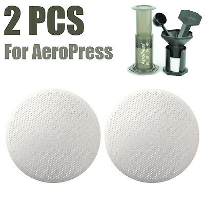 2X Metal Filter Ultra Fine 304 Stainless Steel Coffee Filter Pro for AeroPress