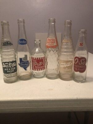 Vintage Glass Soda Beverage Bottles