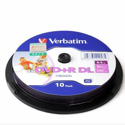 photograph regarding Printable Dvd Discs titled 10 PACK VERBATIM Blank Printable DVD+R DL 8X Twin Layer 8.5GB DVD discs For Xbox