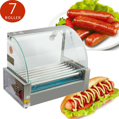 NEW Commercial Household 18 Hot Dog 7Roller Grill Roasted Sausage Cooker Machine