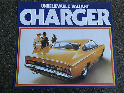 Chrysler Valiant 1972 Vh Charger Brochure,includes Clr Chart  100% Guarantee.