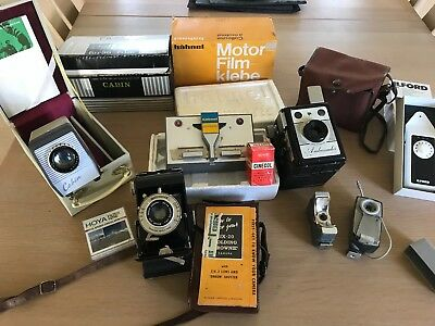 Superb Accumulation Old Cameras Camera Projector Equipment Bargain Lot