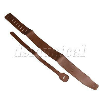 Brown Adjust PU Leather Belt Strap for Acoustic Electric Bass Guitar