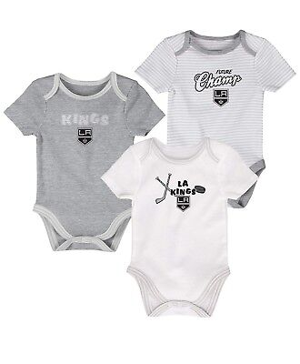 OuterStuff NHL Los Angeles Kings child 3rd Period 3 Piece Set,3-6 Months