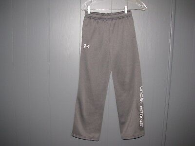 Boys Under Armour Sweat Pants Size YMD Loose Gray Nice