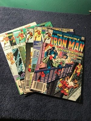 Ironman Lot/Run of 6 Marvel Comics 172,173,174,175,176,177. See Pictures